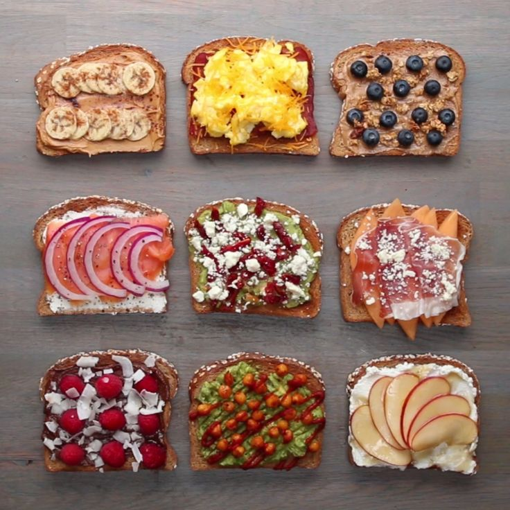 Breakfast Toasts 9 Ways