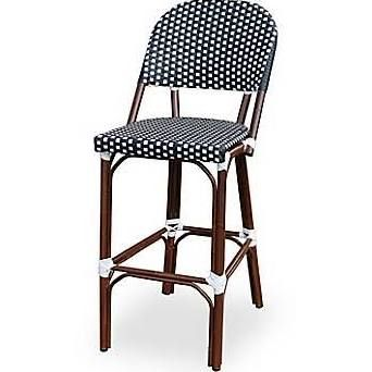 Source Contract Paris Armless Bar Chair Black And White