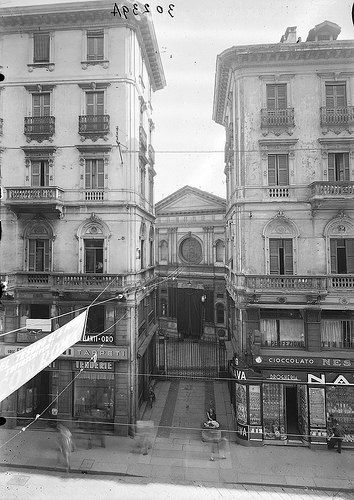 Chiesa di Santa Maria presso San Satiro, Via Torino anni Trenta   Flickr - Photo Sharing!