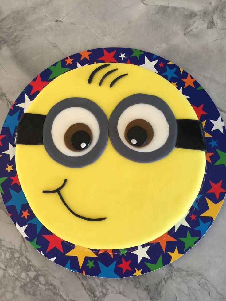 Gâteau en fondant simple d'un Minion.