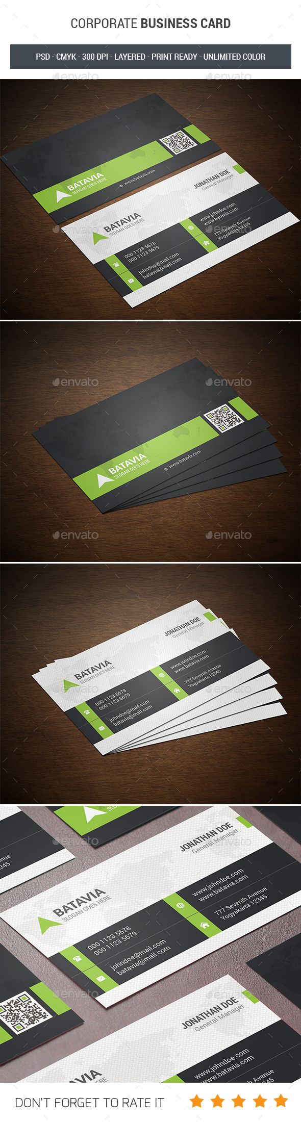 Corporate Business Card Template PSD #design Download: http://graphicriver.net/item/corporate-business-card/14237485?ref=ksioks