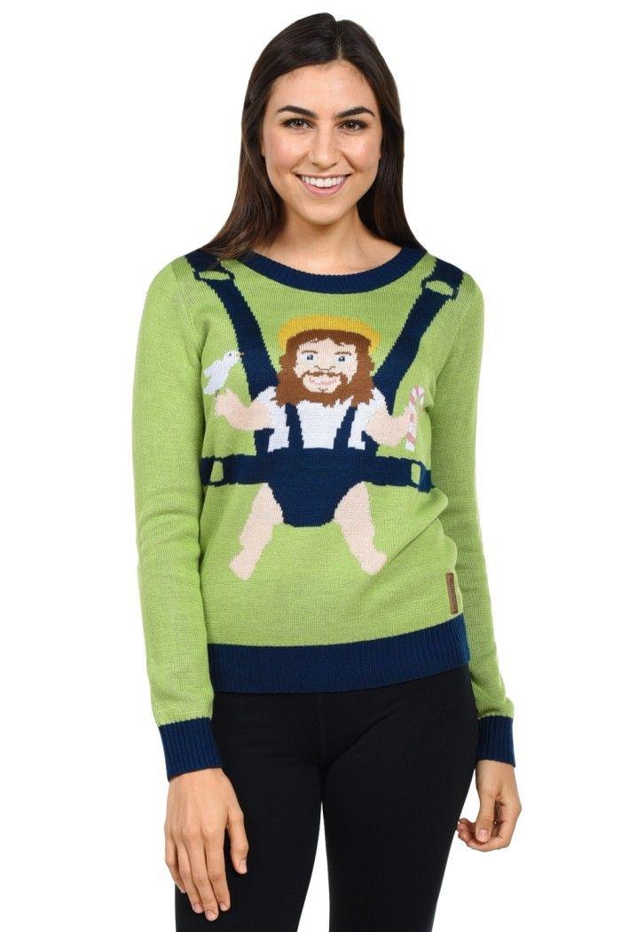 Women's Baby Jesus Christmas Sweater | Tipsy Elves