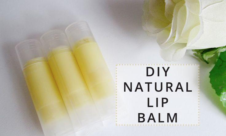 DIY Natural Lip Balm Tutorial   Only 3 Ingredients!