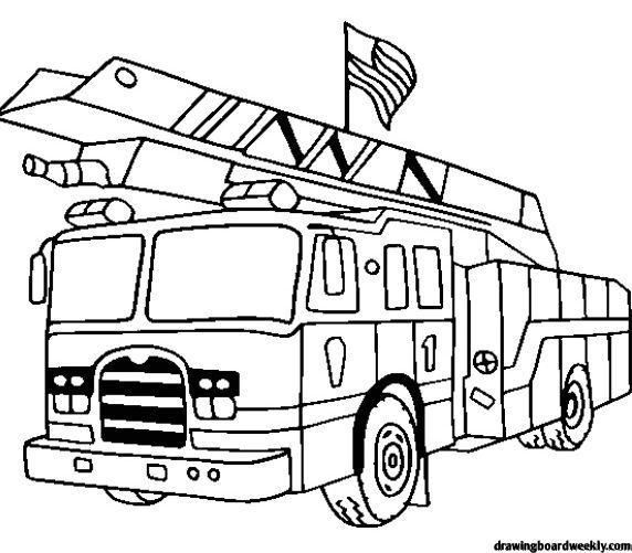 Pumper Truck In Online Fire Truck Coloring Page For Children Letscolorit Com Truck Coloring Pages Coloring Pages For Kids Cars Coloring Pages