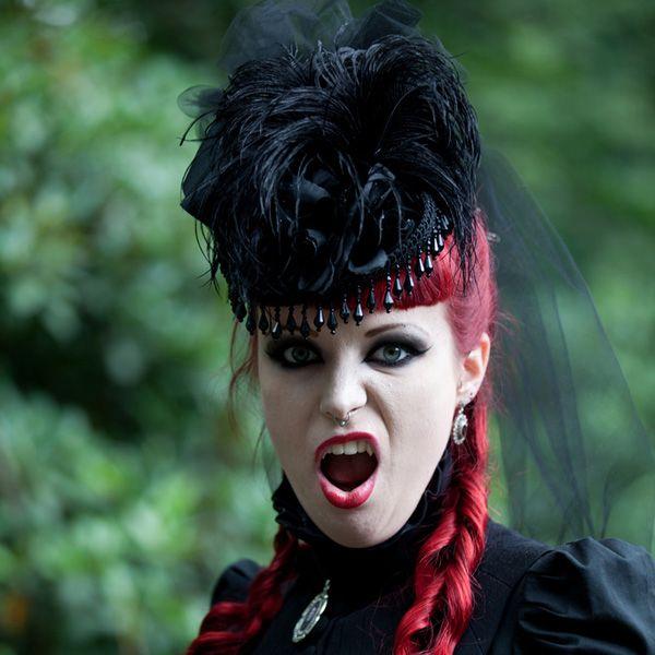 gothic hairstyles for women   castlefest gothic hairstyle 25 Terrific Gothic Hairstyles
