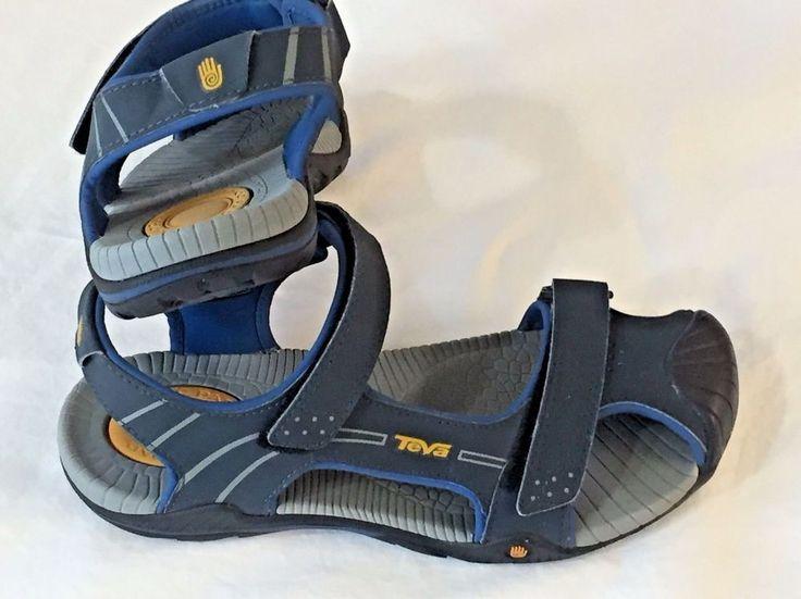 Kids Teva Sandals Size 4 Blue Water Shoes Childrens Boy Girl 1000329 Adjustable  #Teva #Sandals