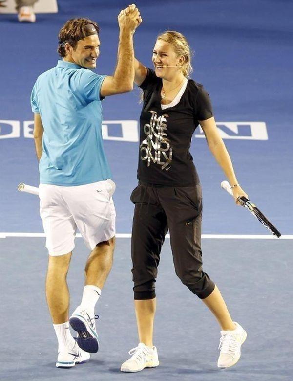 Victoria Azarenka la Kid's Day la Australian Open