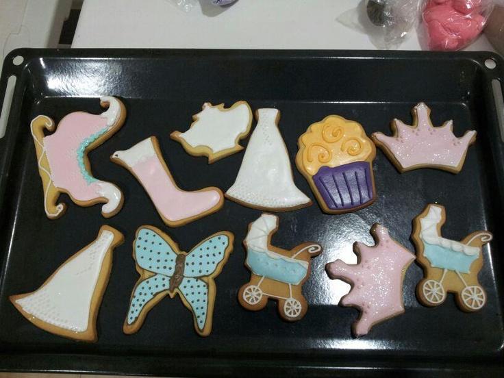 Cookies decorates diferentes motivos.
