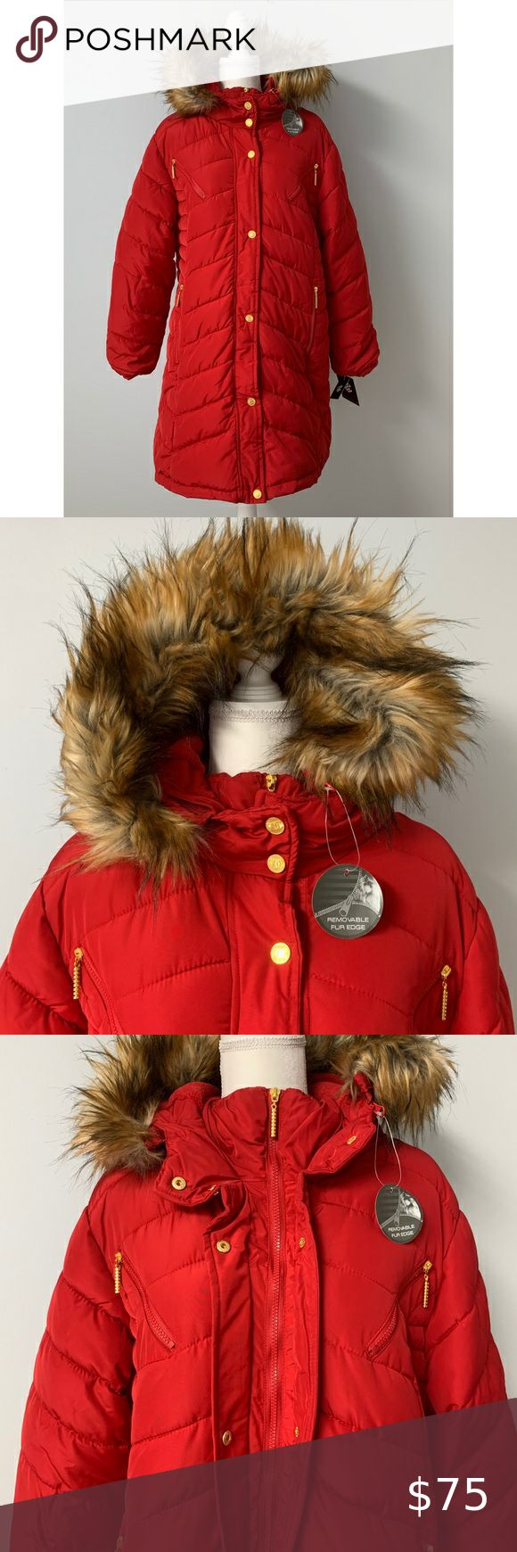 Rocawear Red Puffer Parka Coat NWT in 2020 | Parka coat ...