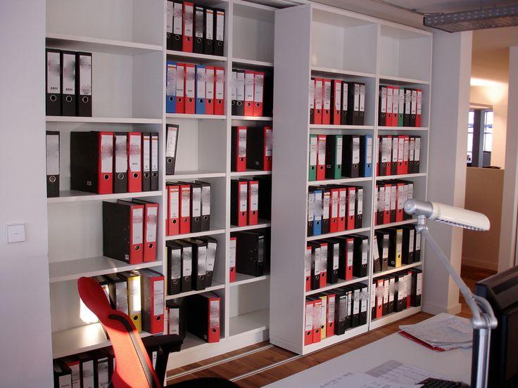 gro raumb ro aktenregal in 2 reihen vordere regal kann verschoben werden vierwand weitere. Black Bedroom Furniture Sets. Home Design Ideas