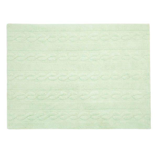 Washable Rug Trenzas Soft Mint / Alfombra lavable Trenzas Mint Lorena Canals