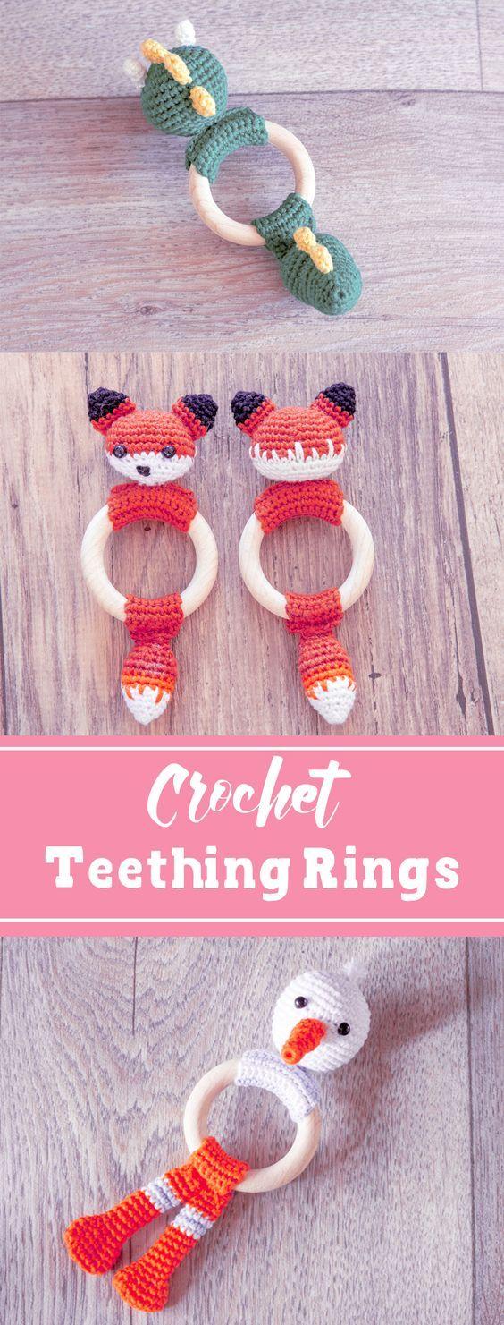 Crochet Pattern for Baby Teething Rings | Ingenious by Me
