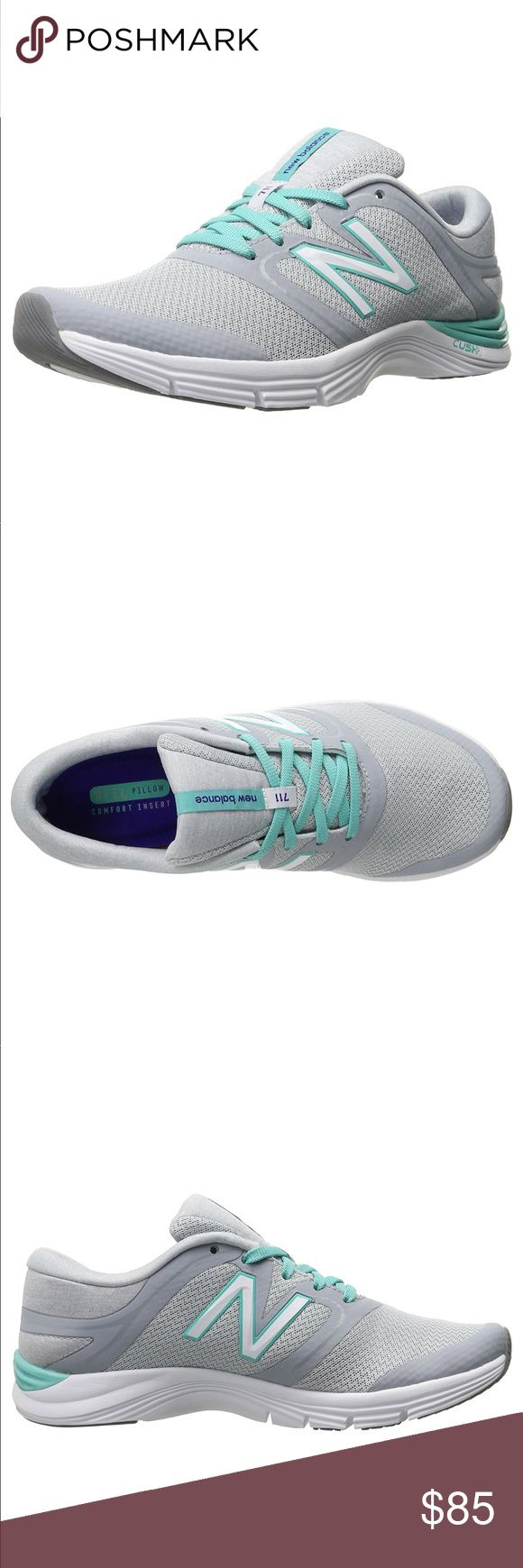 """New Balance Women's 711v2 Training Shoes New Balance is dedicated to helping athletes achieve their goals. It's why they don't design products to fit an image. They design them to fit. New Balance is driven to make the finest shoes : Synthetic/Fabric Rubber sole Shaft measures approximately Low-Top"""" from arch Lace-up trainer featuring breathable mesh upper with TPU reinforcement and padded tongue/collar Removable comfort insert with heel pillow Cush+ technology Forefoot flex grooves 8 mm…"""