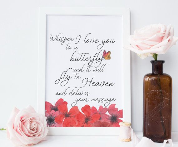condolence gift, printable art, memorial gift,butterfly print, baby loss, miscarriage gift, bereavement gift, loss of a loved one