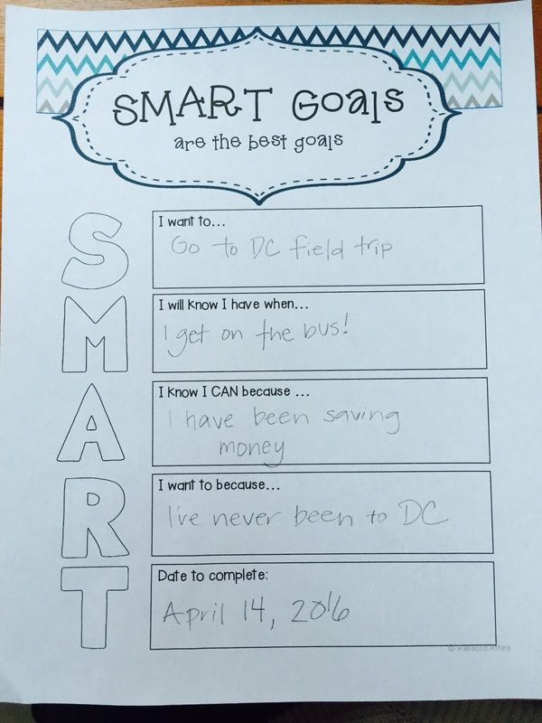 SMART Goal Lesson for 3-5. www.counselorup.com