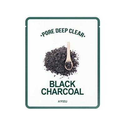 A'PIEU Pore Deep Clear Black Charcoal Mask - 1 Sheet
