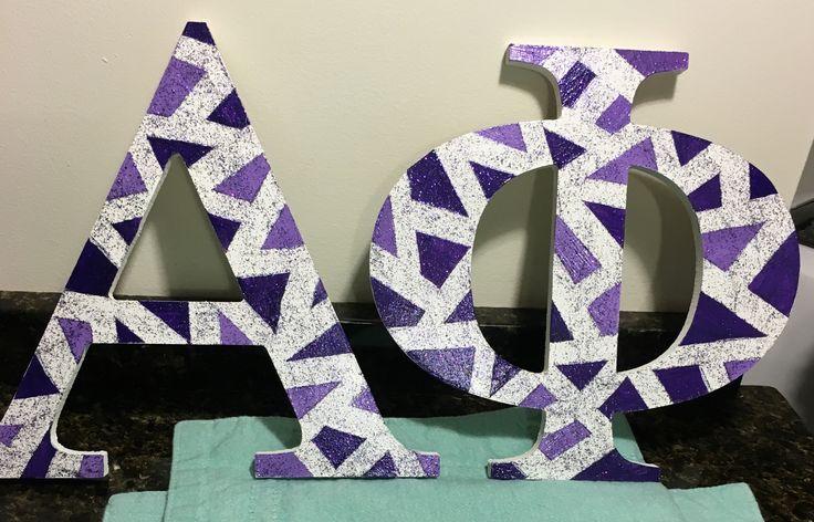 Purple Glitter Alpha Phi Letters   Big and Little  Alpha Phi UConn
