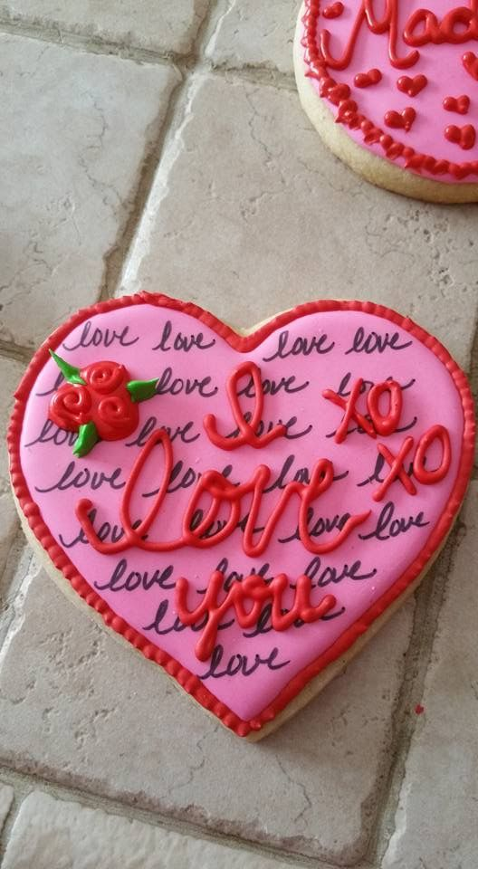 valentine cookies cookie decorating decorated cookies - Decorated Valentine Cookies