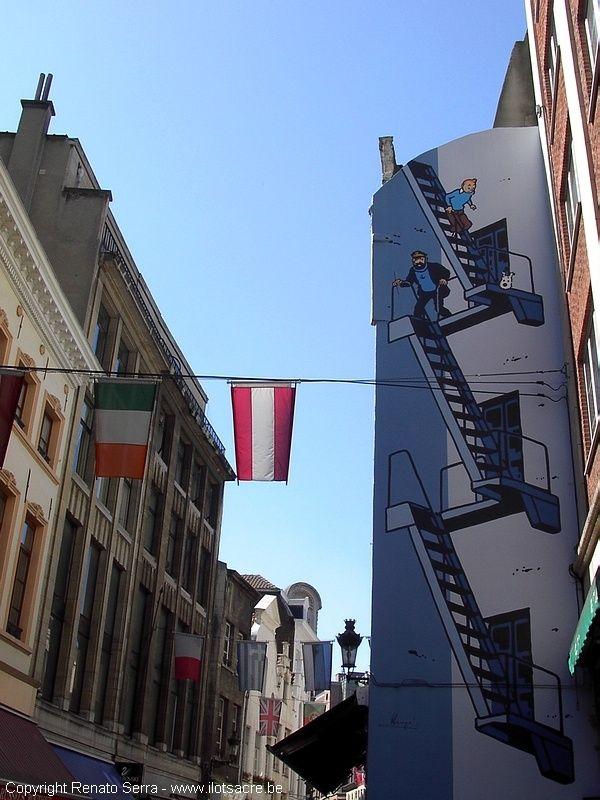 Fresque de Tintin, Bruxelles