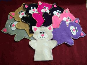 Felt Kitty Hand Puppet