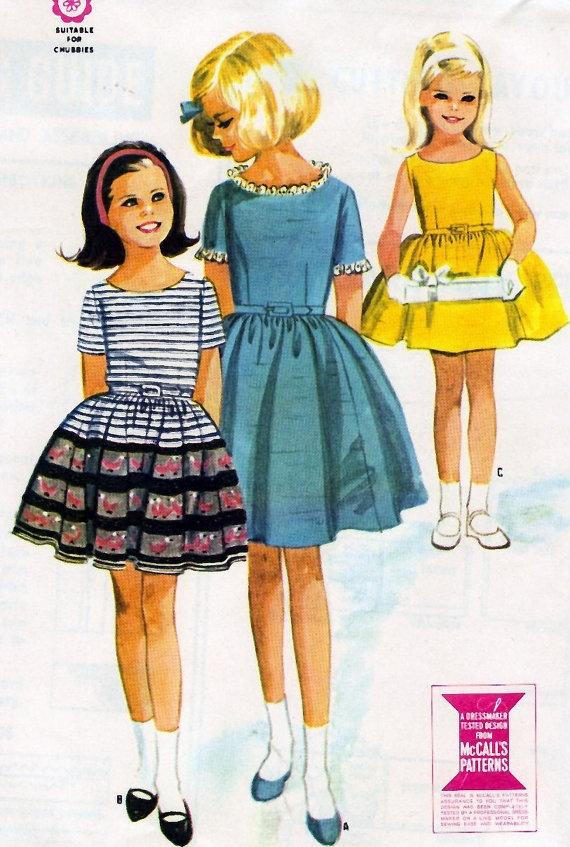 1969 Girls' Dress Vintage Sewing Pattern by MissBettysAttic, $8.00
