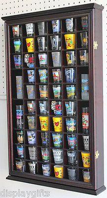 Wall Shadow Box Cabinet Rack to hold 56 shot glasses Display Case SC56 – Lynn Kuhn