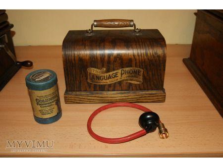 stary fonograf, vintage Columbia Language Phone