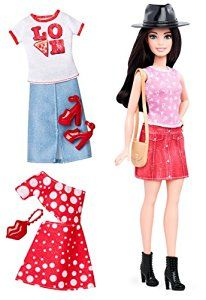 Amazon.com: Barbie Fashionistas Doll & Fashions Pizza Pizzazz, Petite Dark-Haired: Toys & Games