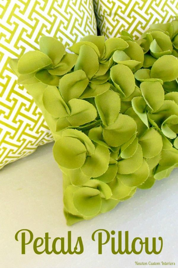Fun Petals Pillow from NewtonCustomInteriors.com.  Learn how to make this cute petals pillow with this step-by-step sewing tutorial.