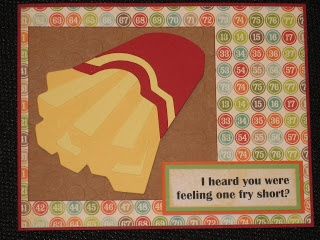 Get Well Card using Cricut Fast Food cartridge