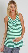 Everly Grey Maternity : Tula Tank - Lime Stripe (Small) Everly Grey Maternity. $40.00