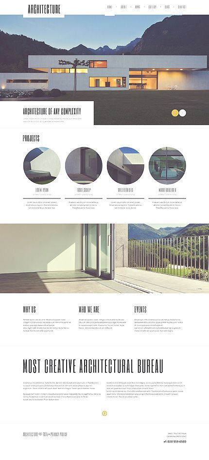 Template 50604 - Architecture Agency  Responsive WordPress  Theme