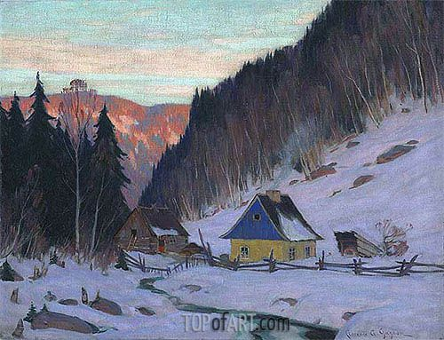 Clarence Gagnon | A Laurentian Homestead, c.1919