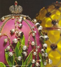 """The """"Lilies of the Valley""""  One of 8 missing Faberge Imperial Easter Eggs Status: Missing Date: about 1900 AD Artist: Karl Faberge (1846-1920) and the artisans of the House of Faberge Origin: St. Petersburg, Russia Media: Precious metals and stones Measurements: Various Last Known: St. Petersburg, Russia, 1917 What is it? Jeweled Easter eggs given by Russian Tsars Alexander III and Nicholas II to their Empresses at Easter."""