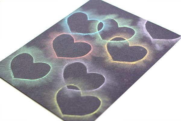 Crafts for Kids: Chalk Stencil Heart Collage from Buggy and Buddy