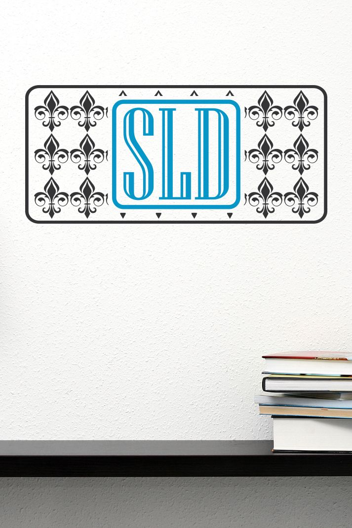 Best Monogrammed Wall Decals Images On Pinterest Monogram - Monogram initials wall decals