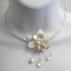 @Overstock - This elegant necklace design will compliment any formal attire perfectly with its unique use of mother of pearl, freshwater pearls and crystals. This piece of jewelry was handcrafted in Thailand by artisan, Lai.  http://www.overstock.com/Worldstock-Fair-Trade/Pearl-and-Mother-of-Pearl-Floral-Necklace-3-12-mm-Thailand/6000180/product.html?CID=214117 $27.99