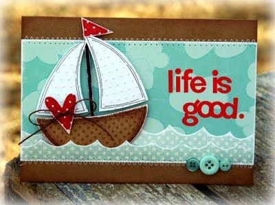 Art Made with Heart: boat card