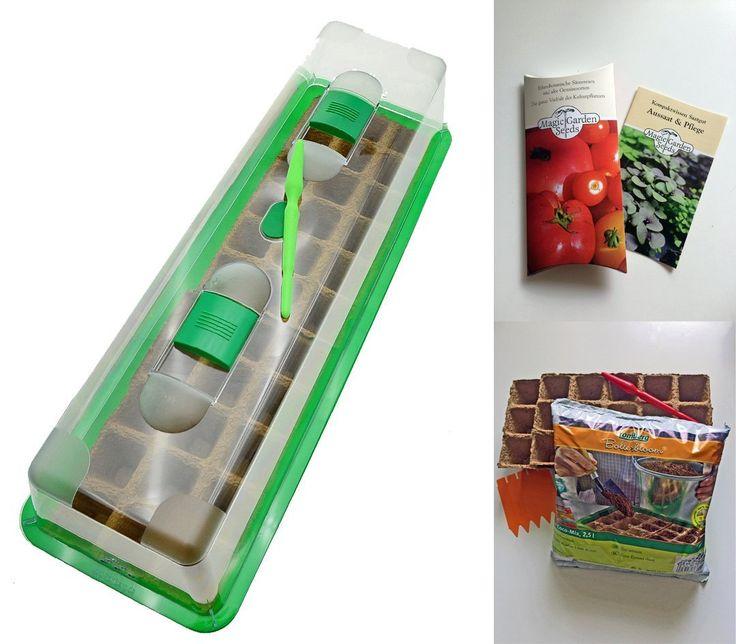 Tomaten-Anzucht-Set: 'Alte, aromatische Tomatensorten', 5 besondere Tomatensamen-Sorten mit Minigewächshaus & Aussaatzubehör.
