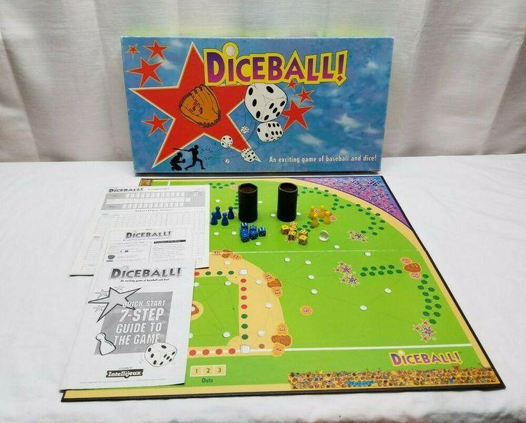 Vintage 1991 diceball dice ball baseball board game
