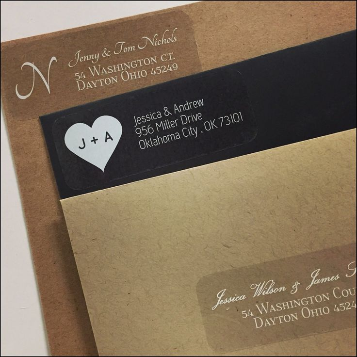 Clear Address Labels for Wedding Invitations