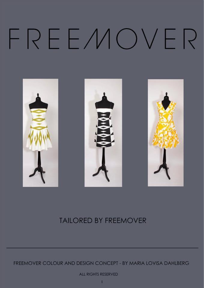 Tailored by FREEMOVER Dresses in strong patterns Regatta™ and Prisma™, designer Maria Lovisa Dahlberg