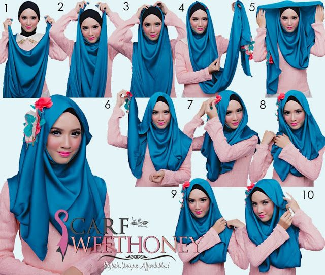 Hijab Tutorial ~ Scarf Sweethoney cute, but I'm not sure about doing it for a casual or everyday look