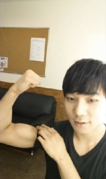 jung byunghee has been working out omf
