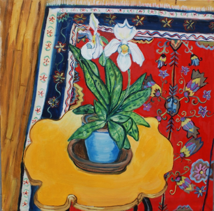 """Paphiopedilium oil on canvas 24"""" x 24"""""""