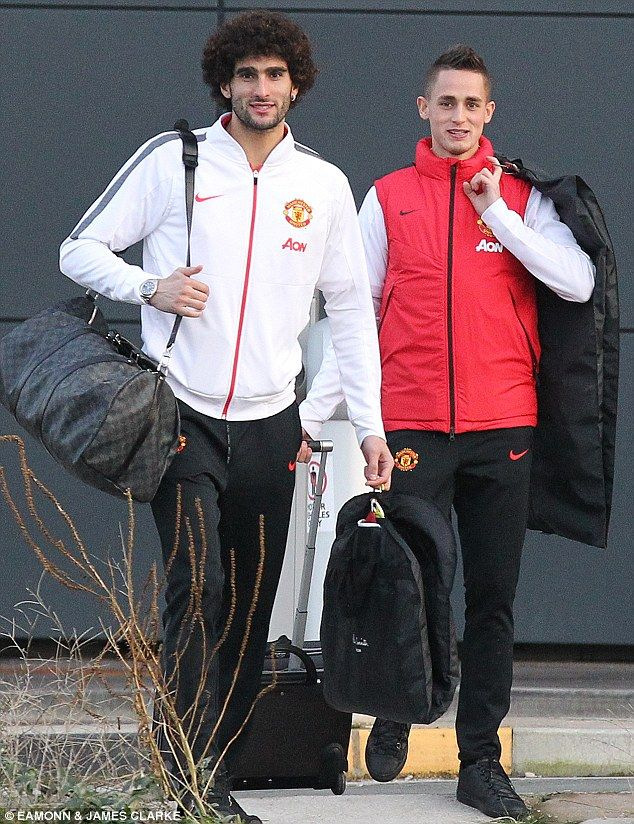 Marouane Fellaini and Adnan Januzaj take the train to London with the #mufc squad, ahead of the PL fixture with West Ham. 7.2.2015  ♥♥♥ #marouadnan