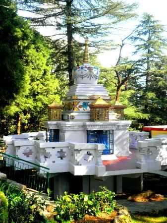 Tushita Meditation Centre. Dharamsala in the beautiful state of Himachal Pradesh is where the exiled Tibetan spiritual leader the Dalai Lama is settled with his followers.