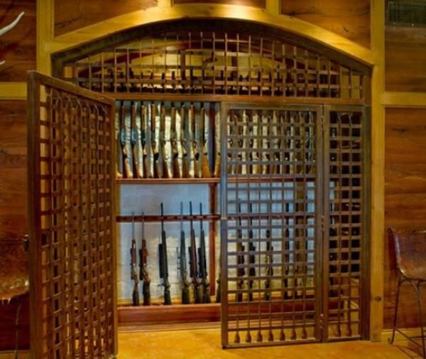 Gun room 600 3 gun vault pinterest ideas photos and for Walk in gun vault room