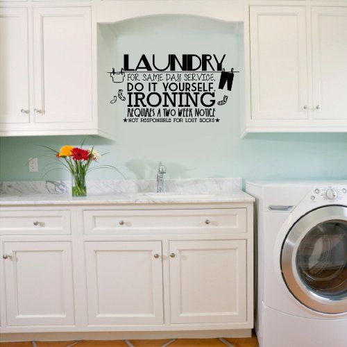 Amazon $21.99: (A) Laundry For Same Day Service wall vinyl decal