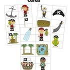 Pirate Matching Cards  Great, fun activity for the younger kids....